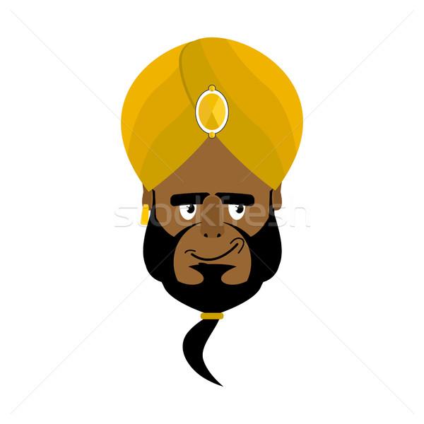 Indian twarz turban szczęśliwy głowie człowiek Zdjęcia stock © popaukropa