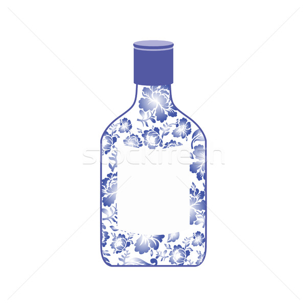 Rus votka şişe boyama çiçek Stok fotoğraf © popaukropa