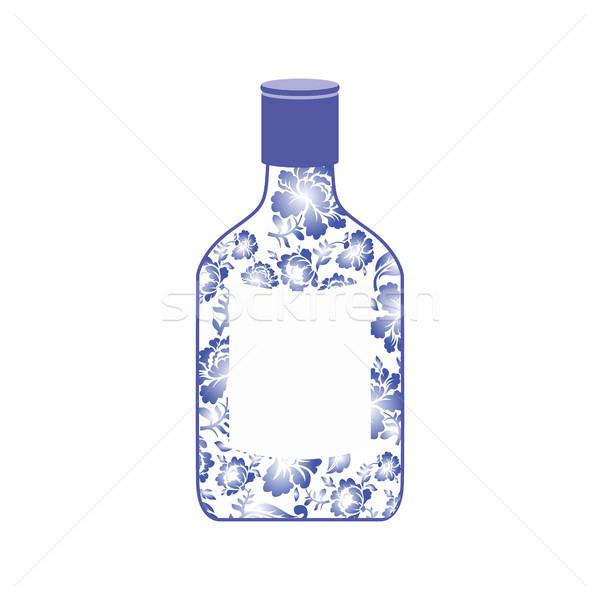 Russo vodka garrafa pintura flor Foto stock © popaukropa