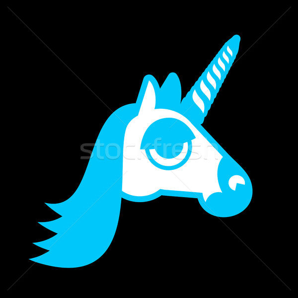 Unicorn head isolated. Fabulous beast in horn. Fantastic animal Stock photo © popaukropa