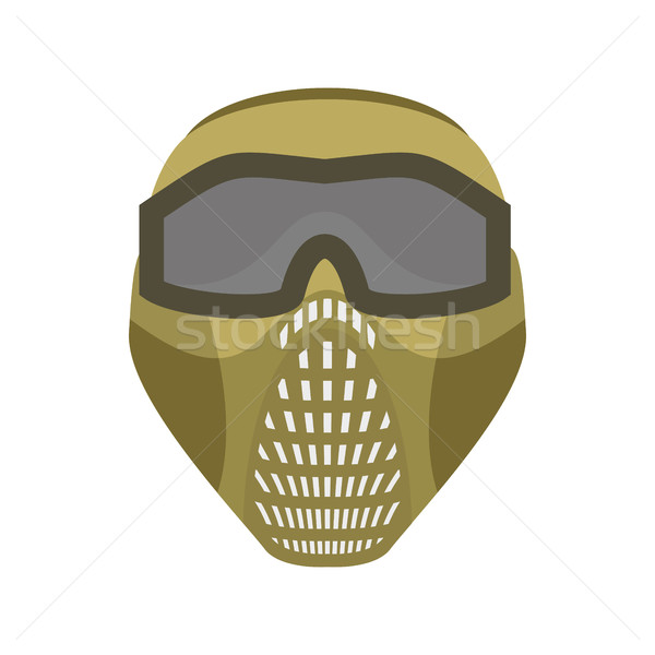 paintball mask. Protective helmet Scary. Sports respirator futu Stock photo © popaukropa