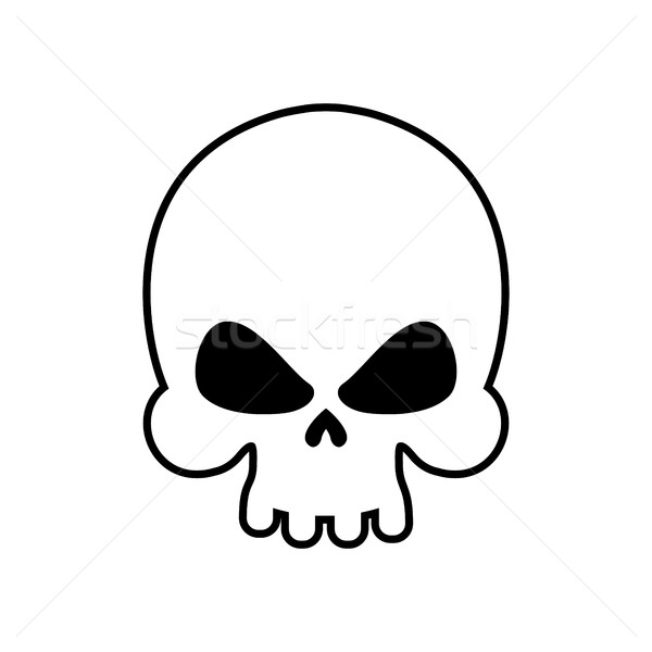 Skull isolated. skeleton head on white background. death symbol Stock photo © popaukropa