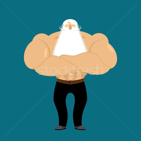 Jubilado atleta fuerte abuelo fitness viejo Foto stock © popaukropa