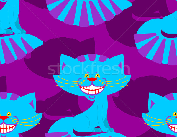 Cheshire cat smile pattern. texture Fantastic pet alice in wonde Stock photo © popaukropa
