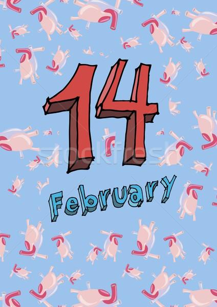 14 February, Valentine card Stock photo © popaukropa
