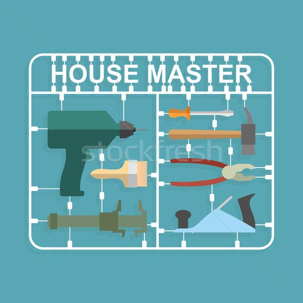 plastic model kits Construction tools. House master Stock photo © popaukropa