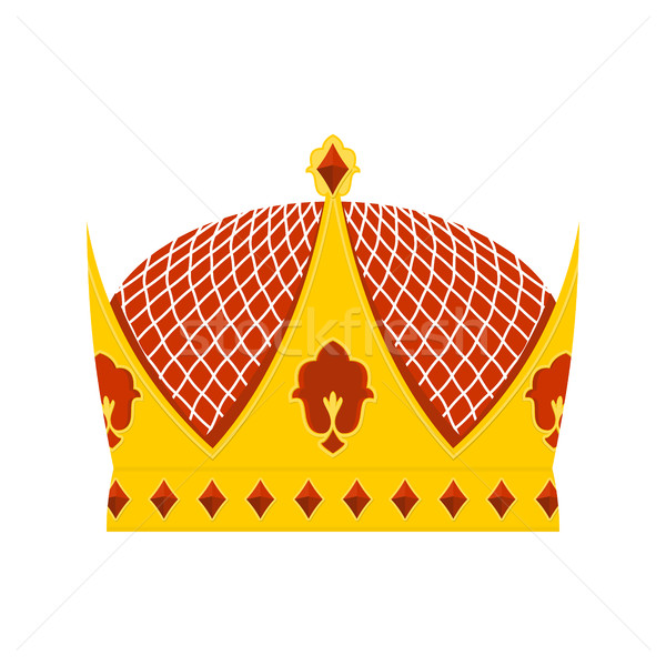 Golden Royal Crown with precious stones on a white background. H Stock photo © popaukropa