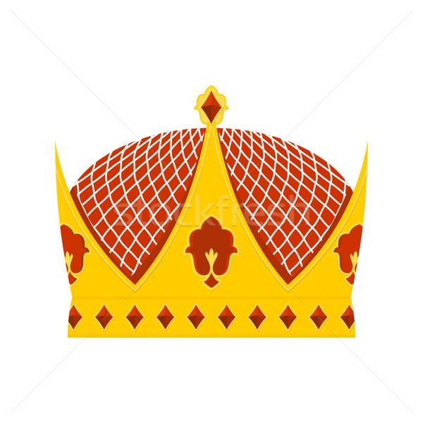 Foto d'archivio: Reale · corona · prezioso · pietre · bianco