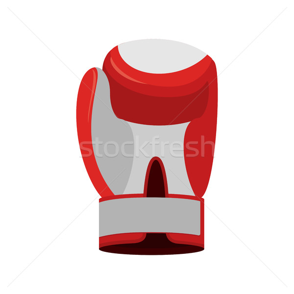 Boxing glove red. Accessory for boxer. sports equipment Stock photo © popaukropa