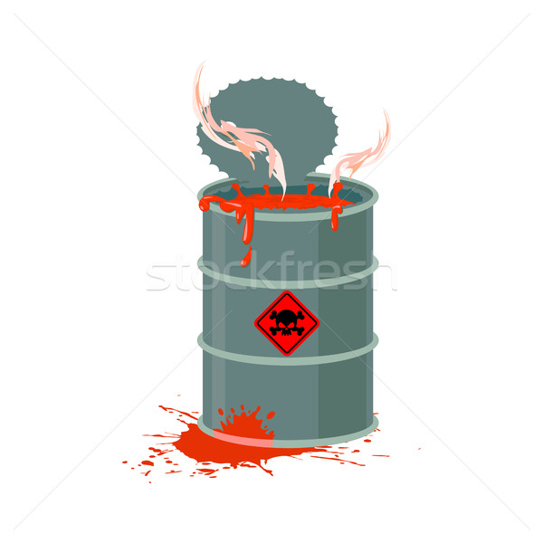 Toxic waste barrel. Radioactive industry garbage emissions. Chem Stock photo © popaukropa