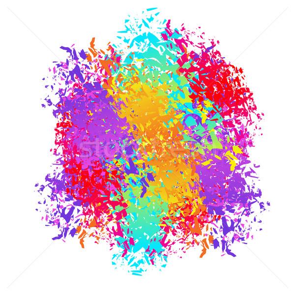 Soyut sprey renkler festival Stok fotoğraf © popaukropa