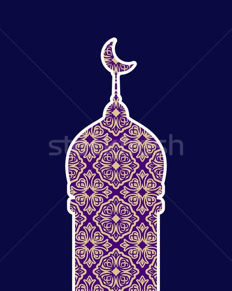 Mesquita isolado Árabe padrão ilustração ramadan Foto stock © popaukropa