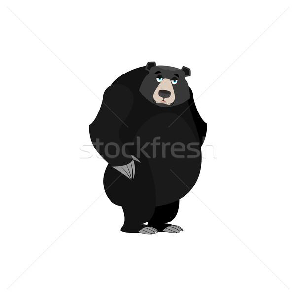 üzücü amerikan siyah ayı duygu yalıtılmış Stok fotoğraf © popaukropa