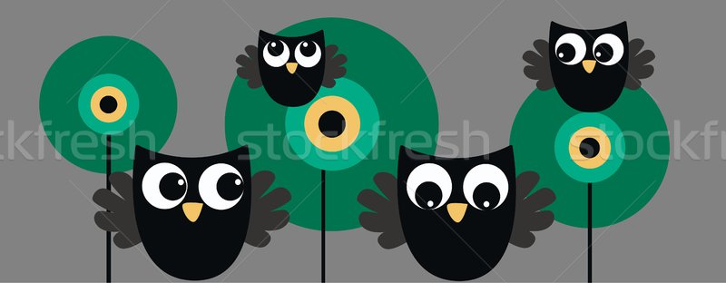 owls header banner Stock photo © popocorn