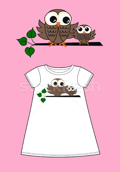 owl pattern for fashion industry Stock photo © popocorn
