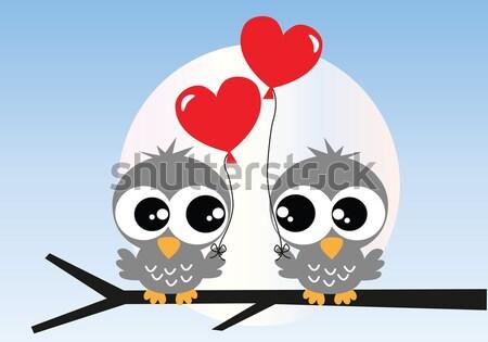 семьи счастливым аннотация сердце птица Сток-фото © popocorn