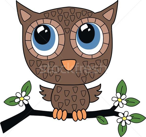 a sweet Little Brown owl Stock photo © popocorn
