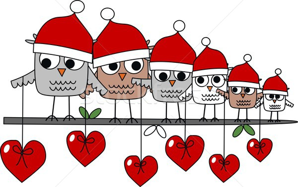 Vrolijk christmas banner liefde hart Stockfoto © popocorn