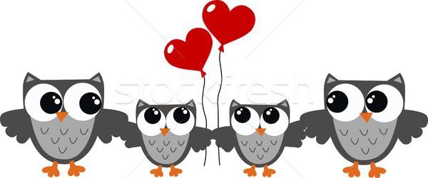 Dia dos namorados outro celebração família árvore coração Foto stock © popocorn