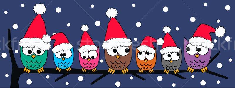 Allegro Natale felice cielo famiglia amici Foto d'archivio © popocorn