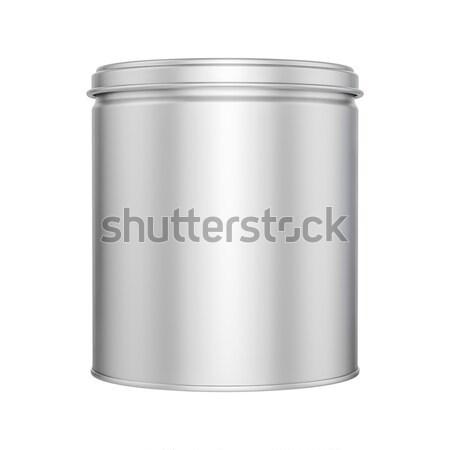 Konzervdoboz konzerv fém sapka felfelé csomagolás Stock fotó © pozitivo