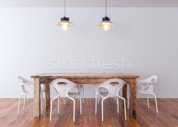 Fal művészet felfelé teremtés üres fény Stock fotó © pozitivo