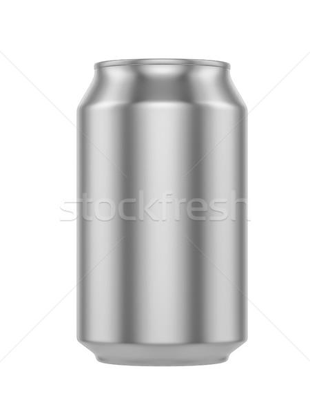 白 金属 アルミ ドリンク することができます ストックフォト © pozitivo