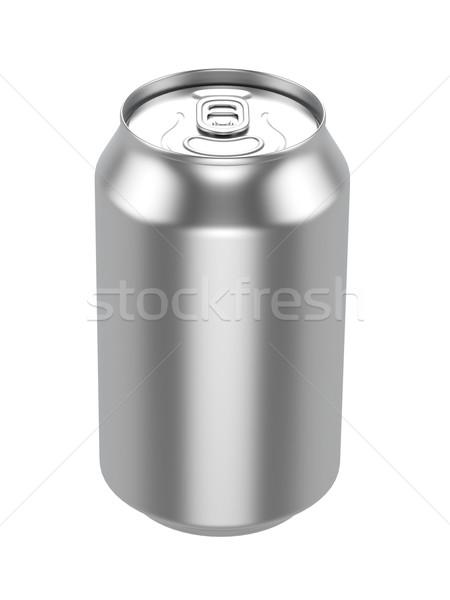 Fehér fém alumínium ital ital konzerv Stock fotó © pozitivo