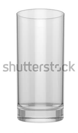 Empty glass on white background, mock up Stock photo © pozitivo