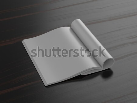 Nyitott könyv sötét puha árnyékok könyv háttér Stock fotó © pozitivo