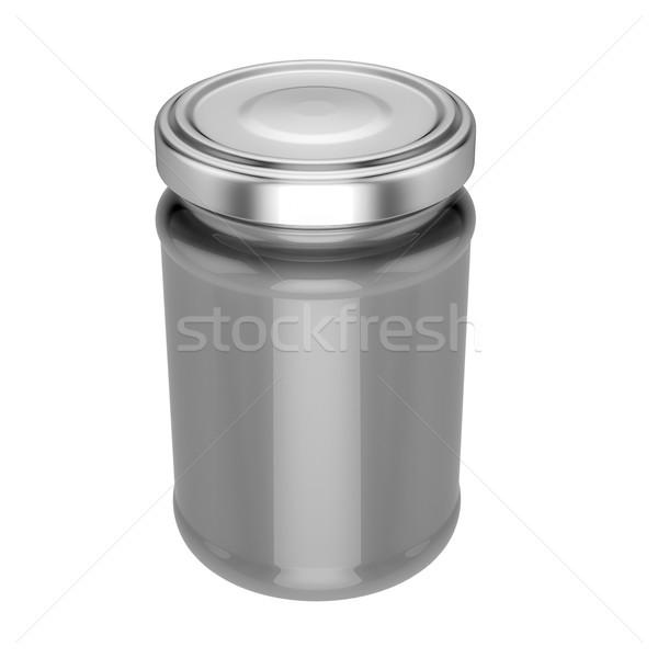 üveg bögre fém felfelé 3d illusztráció bemutató Stock fotó © pozitivo