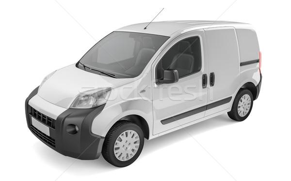 Pickup car on white background Mock up Stock photo © pozitivo