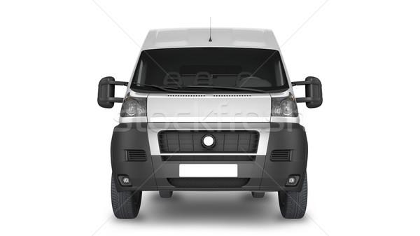 Kisteherautó vázlat elrendezés bemutató 3d render illusztráció Stock fotó © pozitivo