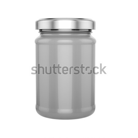 glass jar with metal lid - mock up Stock photo © pozitivo
