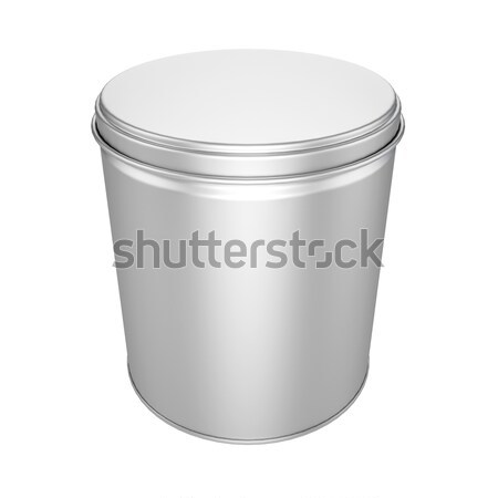 Estanho lata metal boné para cima acondicionamento Foto stock © pozitivo