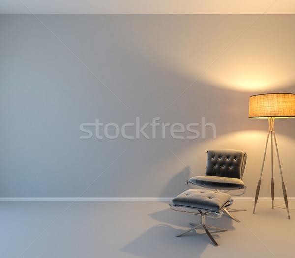 Fal művészet teremtés üres fény padló Stock fotó © pozitivo