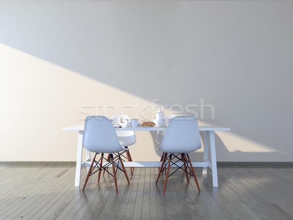 Fal művészet konyha felfelé teremtés üres Stock fotó © pozitivo