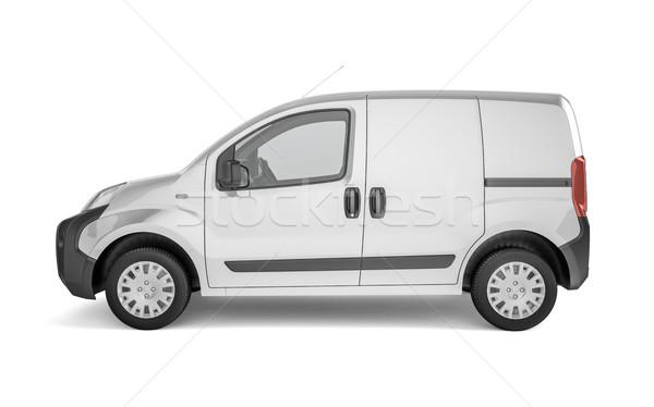 Autó fehér felfelé könnyű hirdetés kreatív Stock fotó © pozitivo