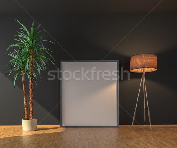 Poszter teremtés üres fény szoba szék Stock fotó © pozitivo