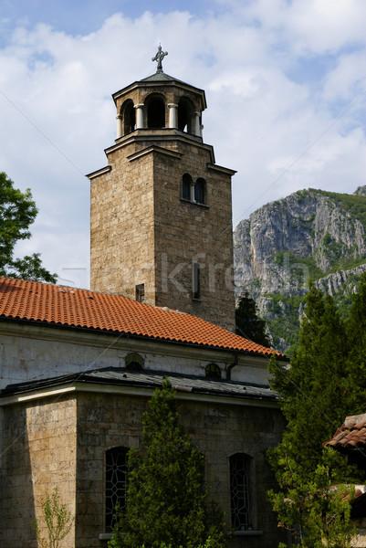 Anciens orthodoxe temple maison été vert Photo stock © Pozn
