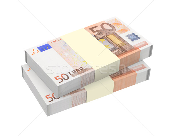 Euro money isolated on white background. Computer generated 3D photo rendering. Stock photo © ppart