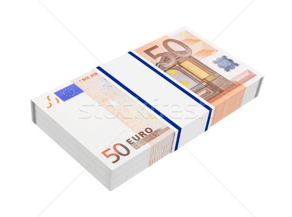 Euro money isolated on white background.  Stock photo © ppart