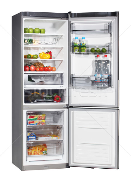 Two door INOX refrigerator isolated on white  Stock photo © ppart