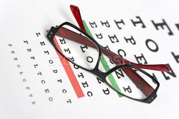 Lunettes oeil graphique médicaux santé lettre Photo stock © ppart