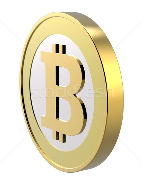 Stock photo: Bitcoin isolated on white.