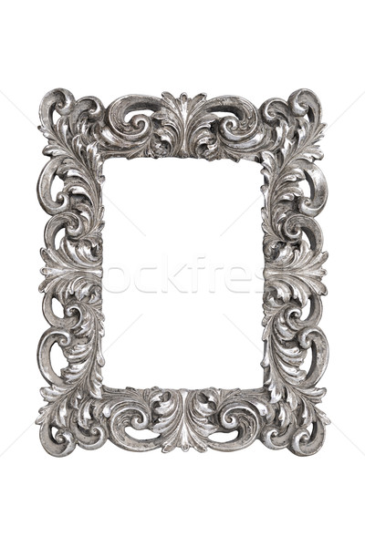 Silver carved picture frame Stock photo © ppart