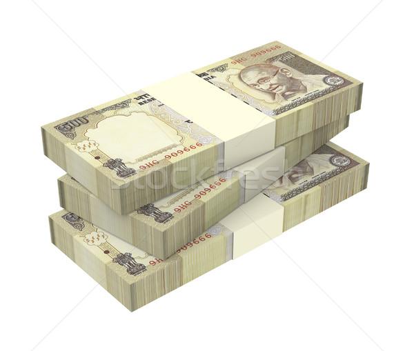 India Rupee isolated on white background Stock photo © ppart