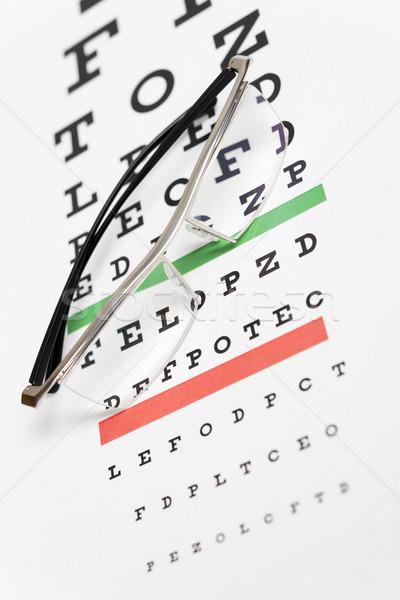 Gözlük göz grafik tıbbi sağlık mektup Stok fotoğraf © ppart