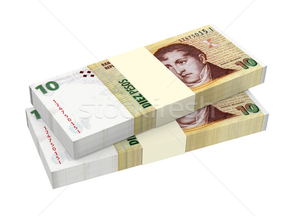 Argentina pesos isolated on white background. Computer generated 3D photo rendering. Stock photo © ppart