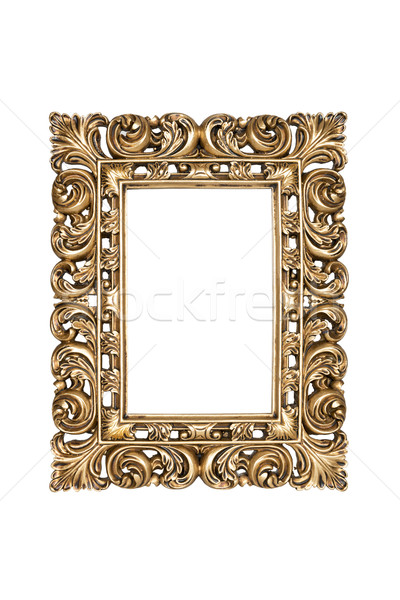 Gold carved picture frame Stock photo © ppart